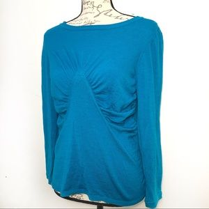 Long Sleeve Cashmere Wool Silk Pullover Knit Top